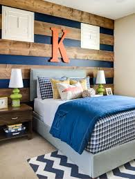 Striped Wood Accent Wall.