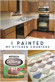 i painted my kitchen counters