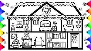 I have used the instructions for the aurora paper doll. Learn How To Draw And Color A Christmas Doll House Christmas House Coloring Page Youtube