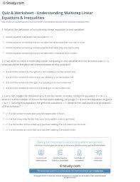 print interpreting solutions of multistep linear equations inequalities worksheet