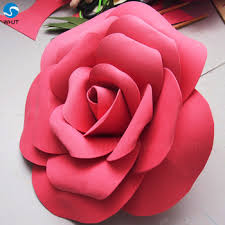 Paper Flower Images Red Rose Giant Foam Paper Flower Wall Artificial Paper Flowers For