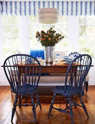 6 lovely blue dining room chairs