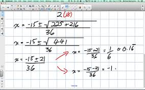 quadratic formula and factoring grade 11 mixed lesson 2 2 9 16 14