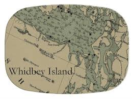 Gb2672 Whidbey Island Antique Nautical Chart Personalized