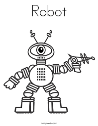 Small Picture Robot Coloring Pages Twisty Noodle