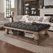 cushioned coffee table. Cushioned Coffee Table Ottoman