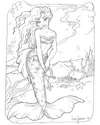 Small Picture Swimming Mermaid Coloring Pages Coloring Coloring Pages
