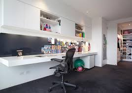 view in gallery sleek contemporary home office with smart task lighting
