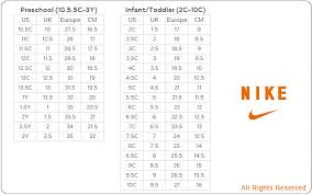 Lebron Shoe Size Chart Nike Free Trainer Size Guide