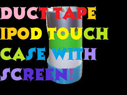 how to make a duct tape ipod touch case visible screen part 1
