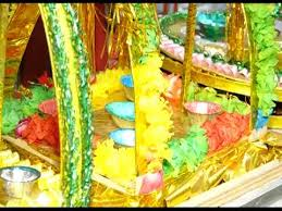 Mehndi Tray Decoration Mehndi thaal Decoration for wedding wedding crafts YouTube 85