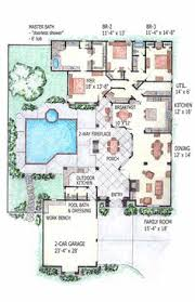 Fine 2 Bedroom Pool House Floor Plans Contemporary Home Mansion Indoor Interiors Intended Inspiration