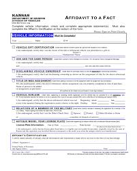 Affidavit Of Fact Form Kansas Edit Fill Sign Online Handypdf