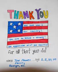 caring kids honor veterans