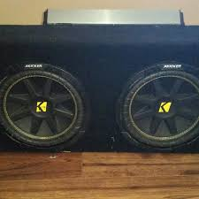 speakers in box. car speaker box with 2 10\u0027 speakers and amp, is 30\u0027 length in