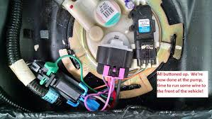 trap door racetronix pump hotwire kit install **lots of pics Wire Harness Singapore you'll need to drill a hole and use the self tapping screw provided to secure the black relay box, then run the wiring harness towards the front of the wire harness manufacturers singapore