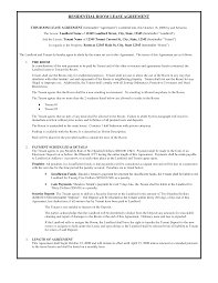 Sample Commercial Rental Agreements Apartment Lease Printable Week
