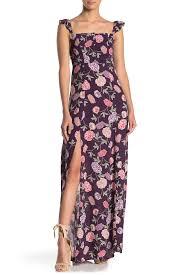 Flynn Skye Size Chart Bardot Floral Maxi Dress