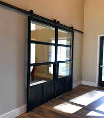 custom double steel and glass barn doors