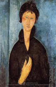 amedeo modigliani woman with blue eyes oil painting reion