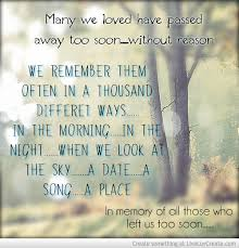 In Memory Of Lost Loved Ones Quotes