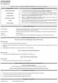 php developer resume template