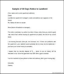 leaving apartment letter thirty day notice vacate exle of landlord sle printable infinite vision though 60