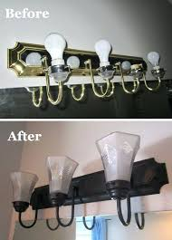 spray paint bathroom fixtures how to change brass and chrome light fixtures to oil rubbed bronze plus tips for perfect spray painting easy and a