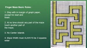 Finger Maze Basic Rules 1 Stay With In Margin Of Graph