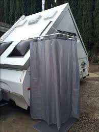 shower curtains for rvs travel trailer shower curtain new outdoor throughout best campers with regard to shower curtains
