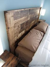 Awesome King Size Headboard DIY Build A King Sized Pallet Headboard  Diywithrick