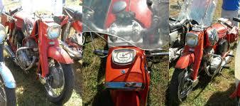 scotty moore elvis presley s 1965 honda dream ca77 corey bourassa s red 1963 honda dream ca77 from the antique honda shop windshield and 1 saddle bag