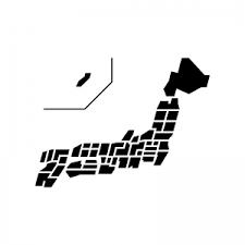 都道府県別日本地図のシルエット04 無料のaipng白黒シルエットイラスト