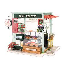 diy dollhouse furniture. DIY DollHouse Miniature With Furniture Art House 3D Wooden Mini Dollhouse  Gift Model Toys For Kids Miss Dessert DGM06 Online With $30.85/Piece Diy Dollhouse Furniture H