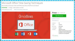 Microsoft Office Coupons 100 Free Udemy Course Microsoft Office Time Saving Techniques