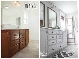 Master Bathroom Budget Makeover Builder Grade To Rustic - Bathroom makeover