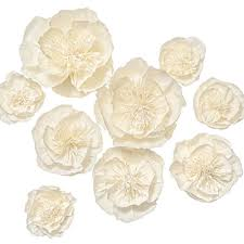 Paper Flower Archway Lings Moment Large Paper Flower 9 X Handmade Cream White Flowers Crepe Paper Flower Giant Paper Flowers Paper Flower Decorations Wedding Flowers For