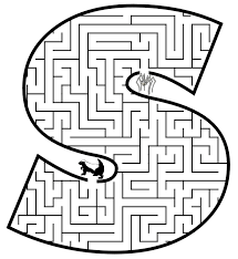 Small Picture Small Letter s Coloring Pages Maze Coloring Pages