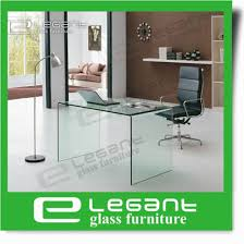 clear office desk. Clear Bent Glass Office Desk Clear Office Desk