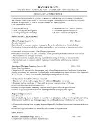 Endearing Resume Objective Examples Loan Processor In Mortgage Loan Best Endearing Definition