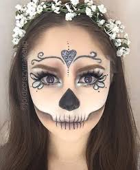 pretty skull makeup look for