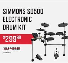 simmons sd500. music \u0026 arts black friday: simmons sd500 electronic drum kit for $299.98 - slickdeals.net sd500 o