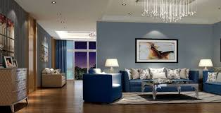 image of good gray and blue living room
