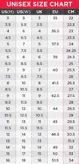 Converse Size Chart Australia Converse Chuck Taylor All Star Hi Optical White Us Mens 4 Us Womens 6 Shoes
