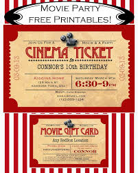 Movie Invitation Template Free Like Mom And Apple Pie A Summer Of Movies Free Printables Free 7
