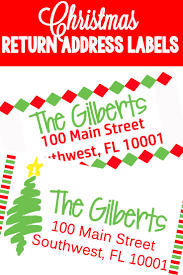 Free Address Labels Samples Christmas Themed Return Address Labels Return Address Send 10