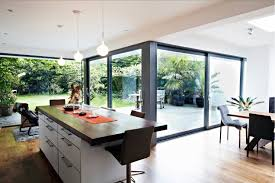 Home Interiors:Wonderful House With Glass House Extension Design Ideas Modern  Glass Extension In The