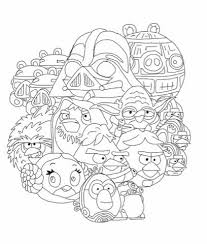 Angry Birds Star Wars Coloring Page My Free Coloring Pages Bird