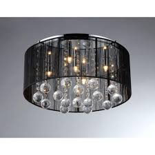 black crystal lighting. Warehouse Of Tiffany Jasmine 4-Light Black Crystal Ceiling Chandelier Lighting I