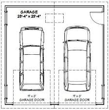 Double Garage Dimensions Single Door Width Of Two Car Garagelength Double Car Garage Size